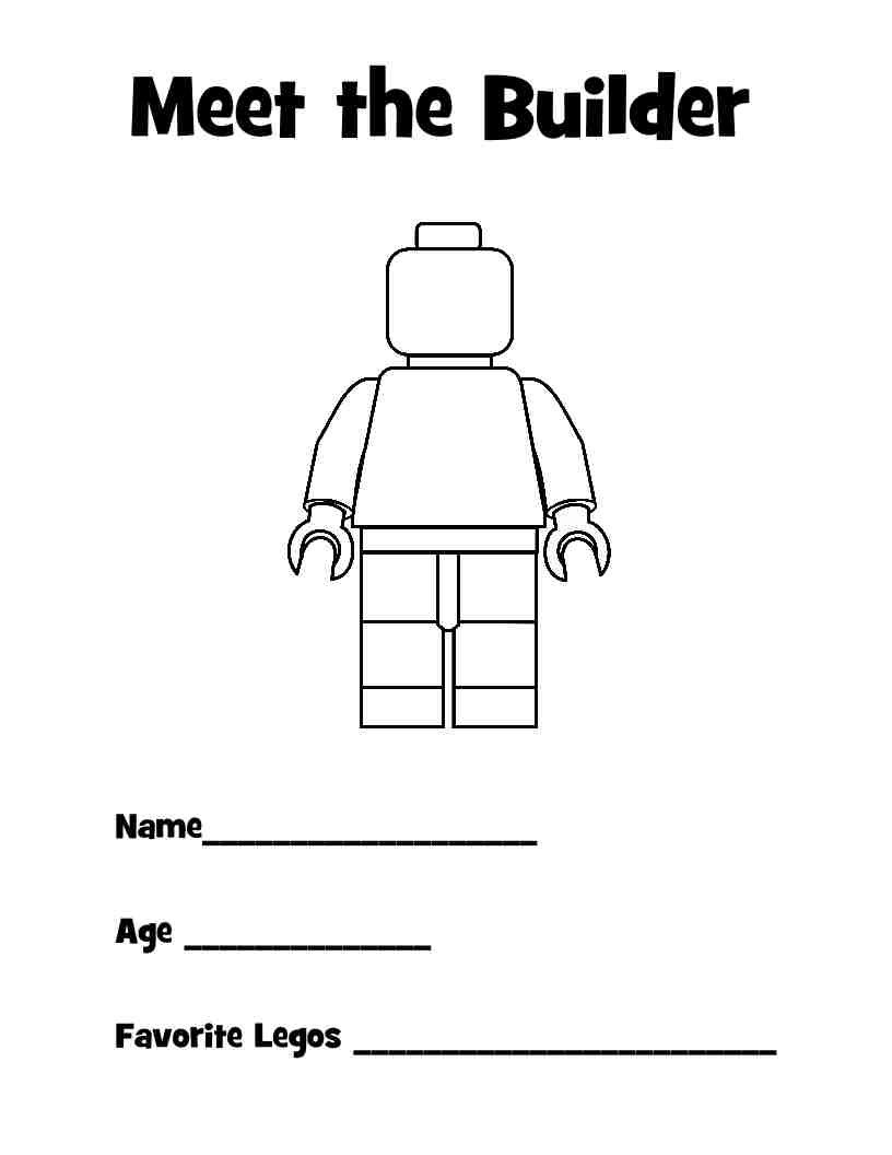 Lego printables & more