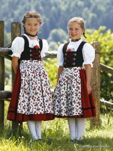German girls in dirndls