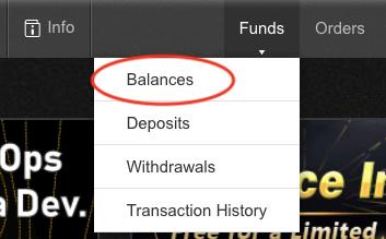 バイナンスのメニューからFundsをクリック