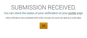 Poloniexのアカウント登録承認画面