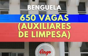 Benguela com 650 Vagas (Auxiliares de Limpesa) na Educação 2021