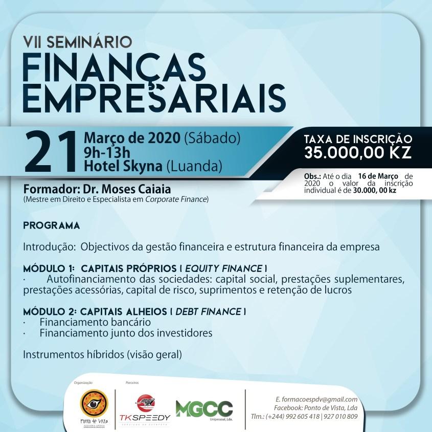 VII Seminário Finanças Empresariais