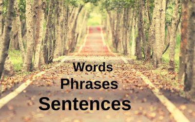 Mit tanuljak? Szavakat, kifejezéseket vagy mondatokat?