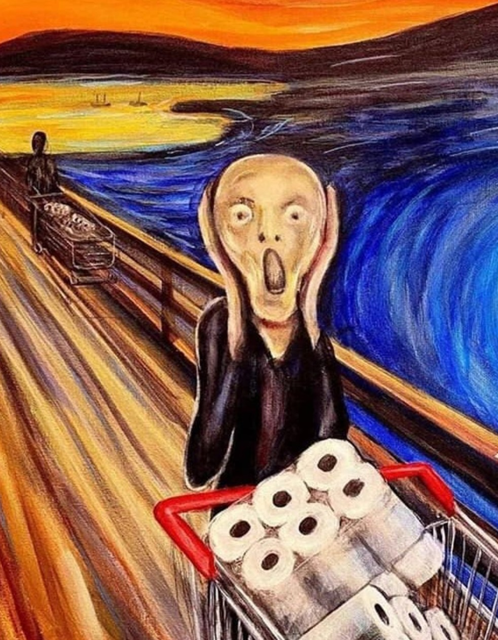 L'Urlo di Munch - in fila a comprare la carta igienica