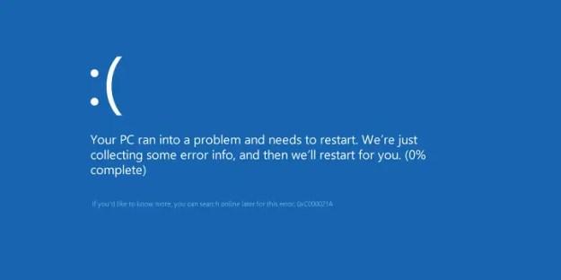 Schermata blu in Windows 10