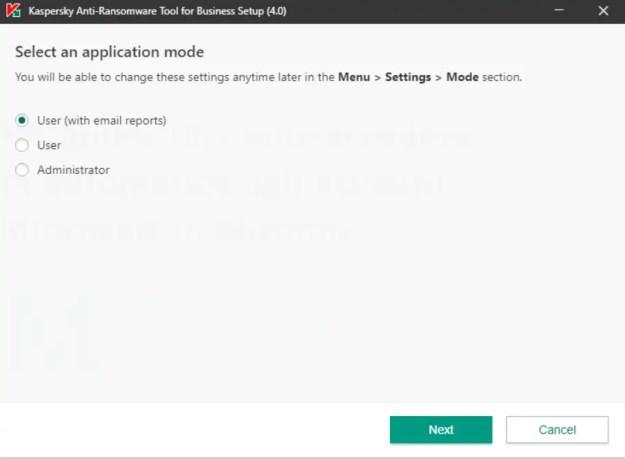 application mode