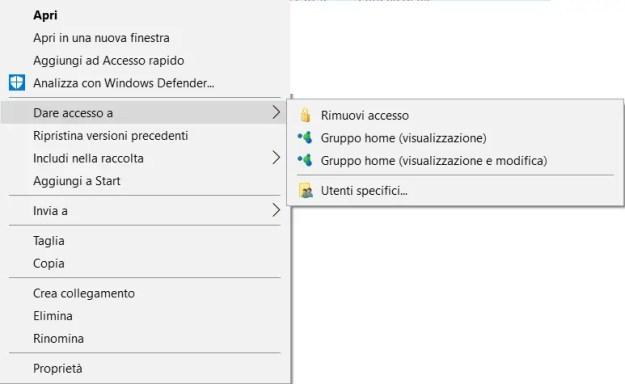 share02 - Windows 10: come condividere cartelle e file in rete