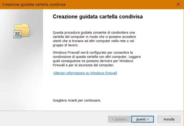 share04 - Windows 10: come condividere cartelle e file in rete