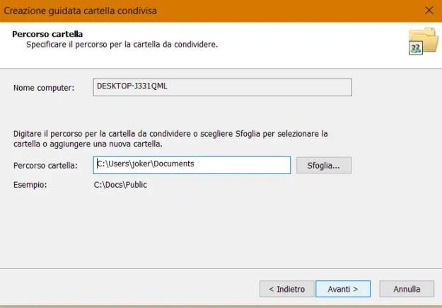 share05 - Windows 10: come condividere cartelle e file in rete