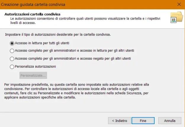 share06 - Windows 10: come condividere cartelle e file in rete