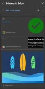 Salvare gli elementi in modo da creare la parola SURF