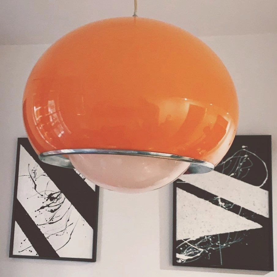 La classifica dei prodotti migliori e più acquistati nel 2021. Lampadario Design Anni 70 Harvey Guzzini Bud Pendant Lamp Angolo Vintage