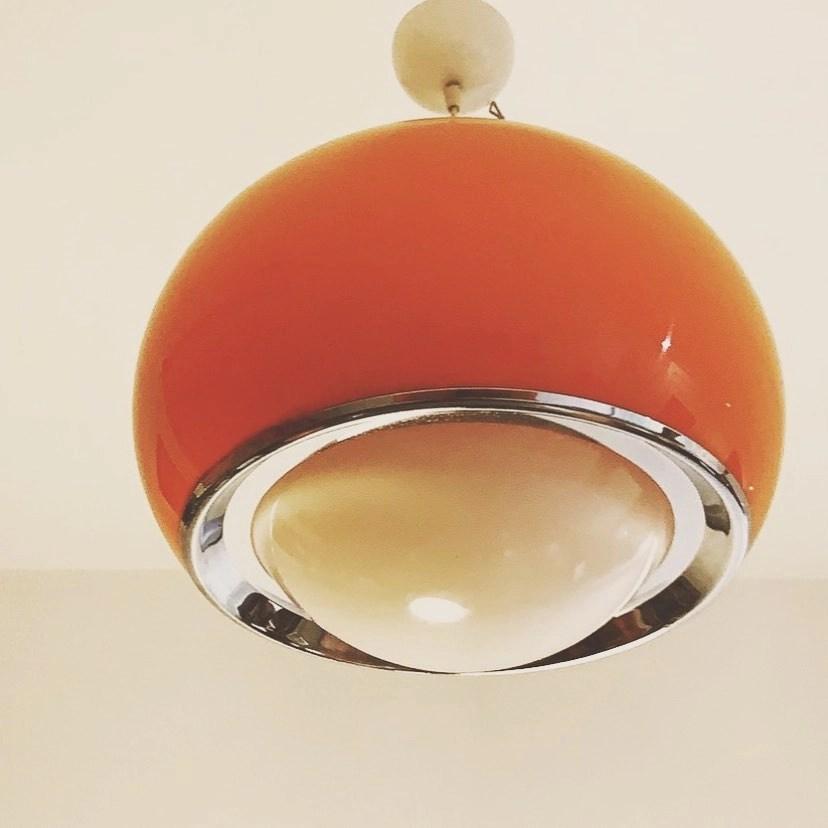 Zurigo 66 ha un carattere deciso rafforzato anche dall'elemento cromatico che lo ha. Lampadario Design Anni 70 Harvey Guzzini Bud Pendant Lamp Angolo Vintage