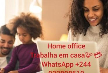 RECRUTAMENTO. HOME OFFICE(TRABALHO EM CASA)