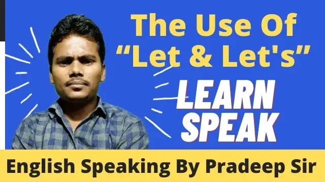 use of let and let's in hindi