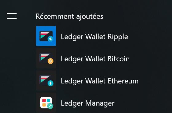 Application Ledger Nano S