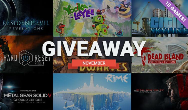 November giveaway, 10 games!