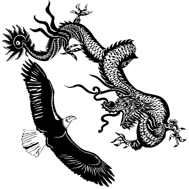 eagle dragon Illustrated Yin Yang