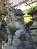 Koma-inu (lion-dog) at Konpirasan.