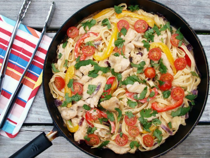 Spicy Chicken Tequila Fettuccini