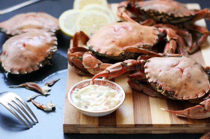 Boiled Crabs with Fennel Wide