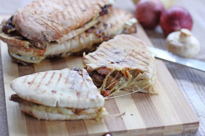 Bacon Mushroom Mozzarella Melt Panini Wide