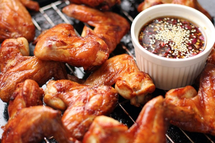 Korean-Style Chicken Wings Wide