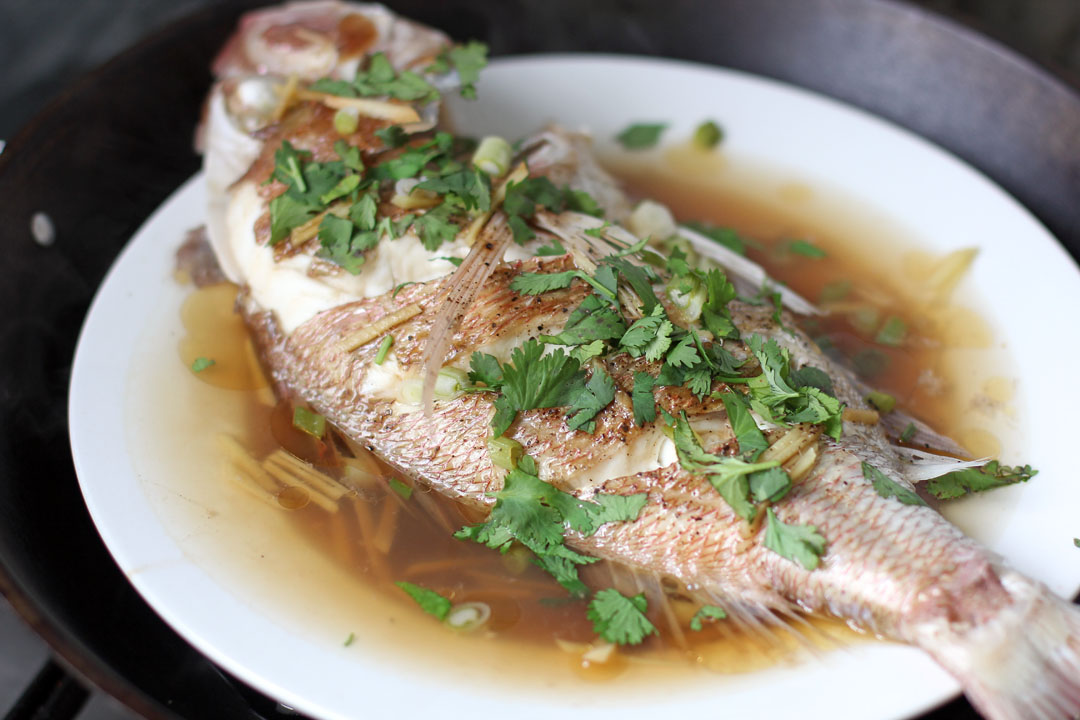 Malaysian style steamed fish ang sarap for How to steam fish