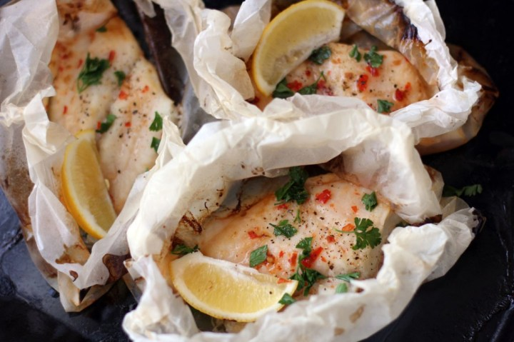Sweet Chilli and Lemon Fish Parcels Wide