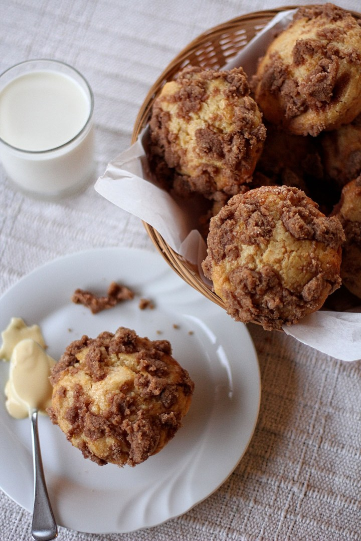 Peach and Apricot Muffin with Custard Filling
