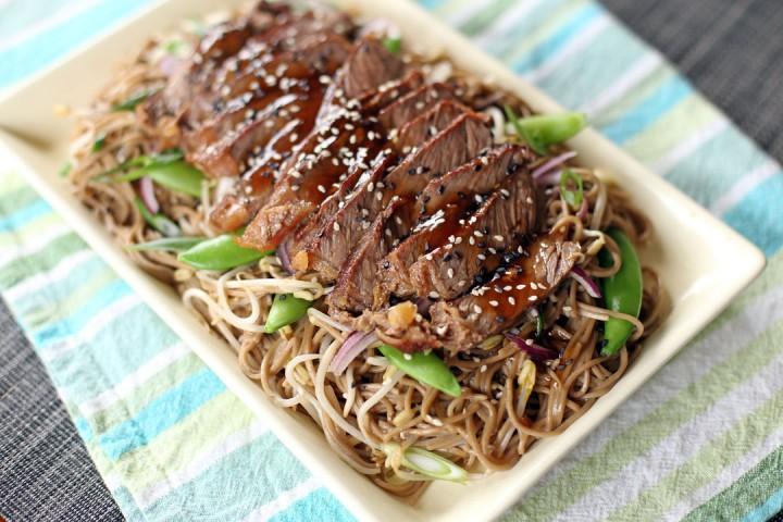 Teriyaki Steak Soba Wide