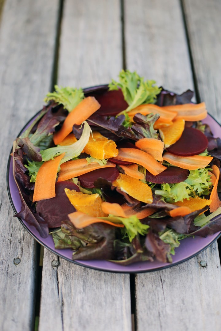 Orange, Carrots and Beet Salad