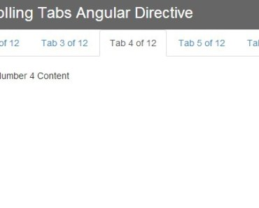 Angular Directive For Scrolling Bootstrap Tabs Component