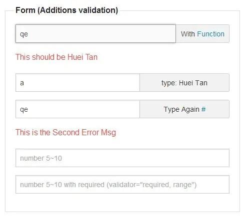 Angular Validation Addition Validation Rules
