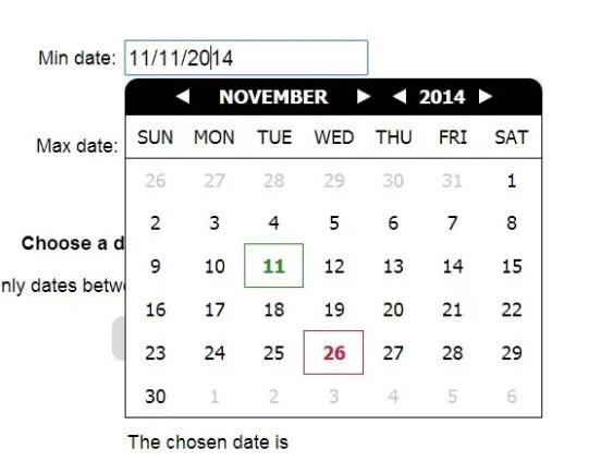 Ionic 4 Calendar Picker