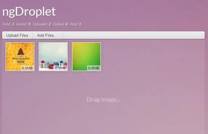 AngularJS HTML5 File Uploader - ngDroplet | Angular Script