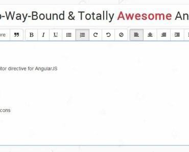 Lightweight & Awesome AngularJS WYSIWYG Text Editor