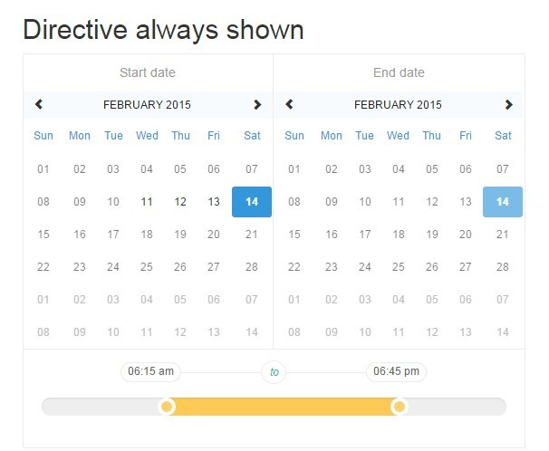 AngularJS Directive For Datetime Range Picker