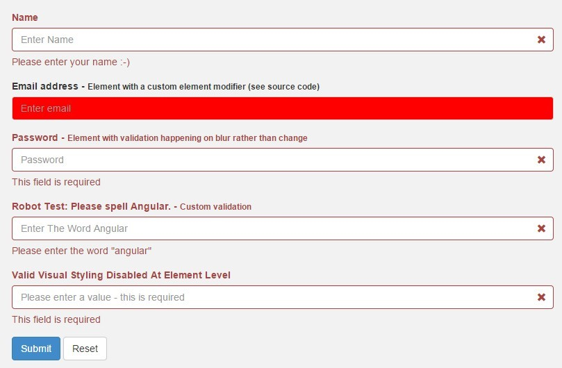 Dynamic AngularJS Form Validation | Angular Script