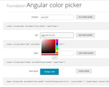 AngularJS Color Picker Directive For Foundation