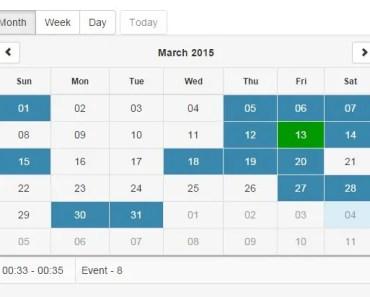 Pure AngularJS Responsive Calendar Directive