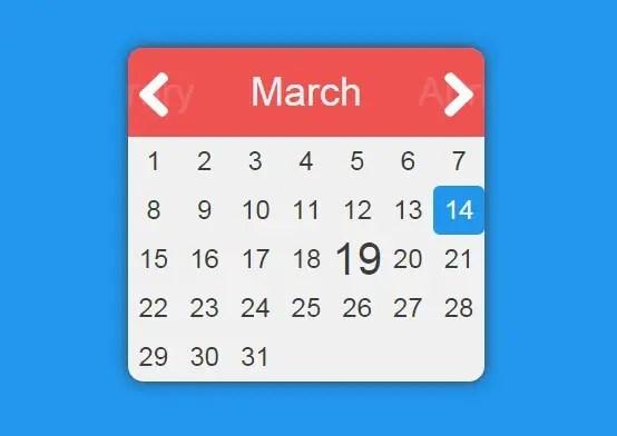 Simple Flat Date Picker with AngularJS | Angular Script