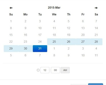 ez-datetime Date Range Picker