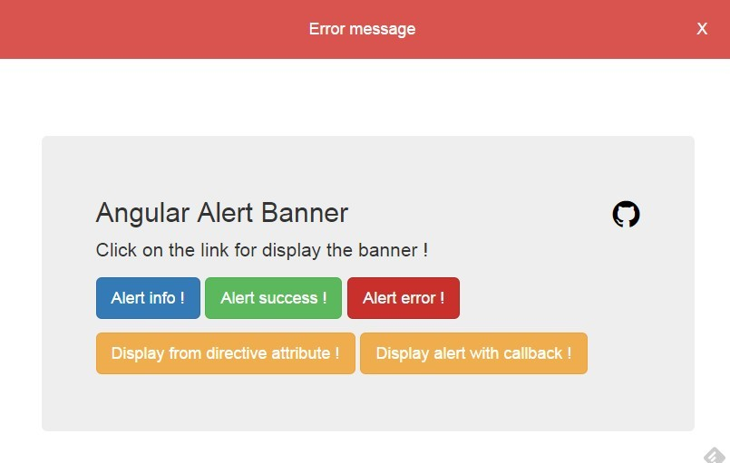 Angular Alert Banner