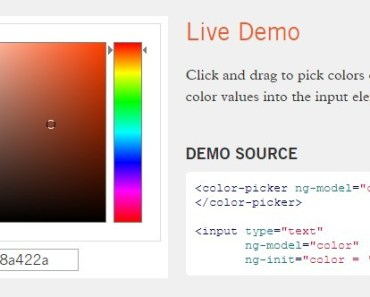 Lightweight Color Picker For Angular
