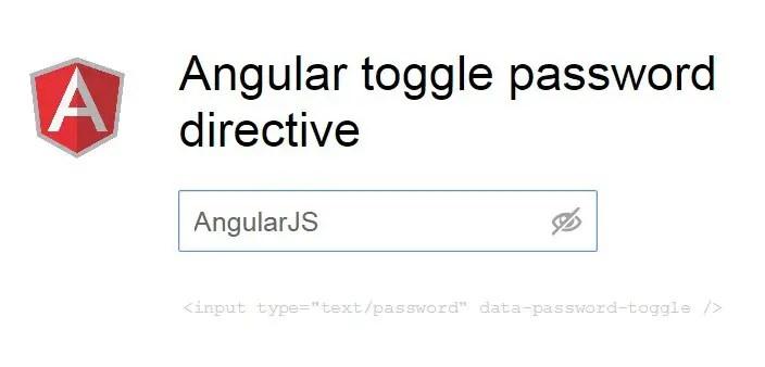 Angular toggle password directive