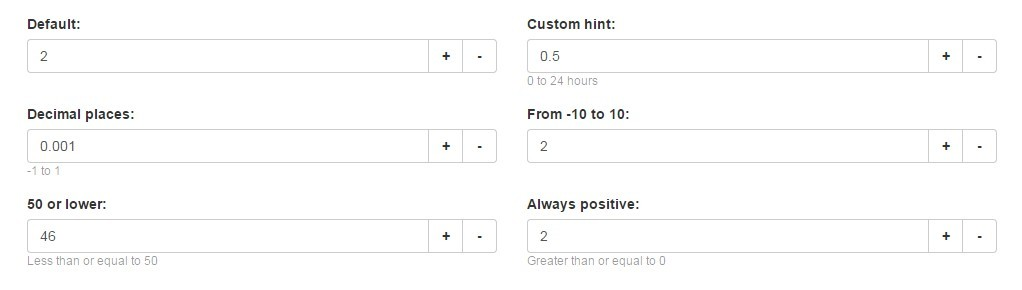 A number-only input element directive for AngularJS.