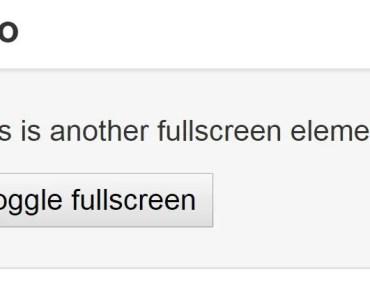 Angular Wrapper For Html5 Fullscreen Library