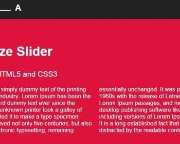 AngularJS Text Size Slider Directive