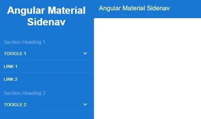 Angular Material Design Style SideNav Menu